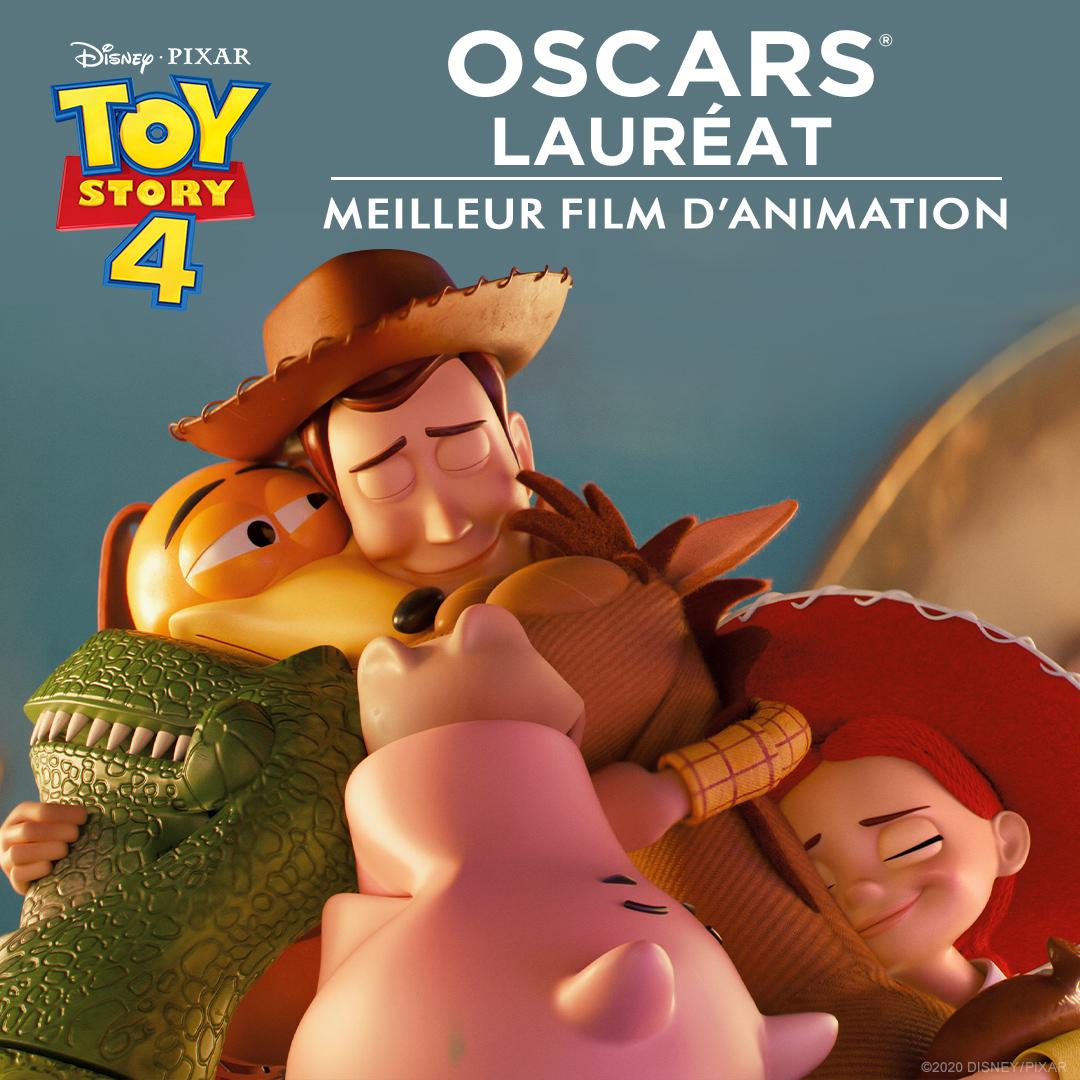 Félicitations à #ToyStory4 qui a remporté l'Oscar du Meilleur Film d'Animation ! #Oscars