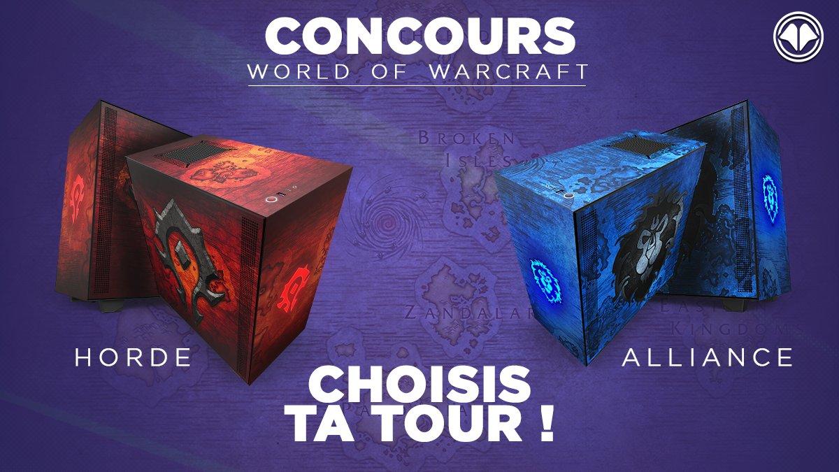 CONCOURS World of Warcraft !  Grâce à @NZXTFrance, on vous fait gagner ces 2 boîtiers PC !   Comment participer ?   1) RT + FOLLOW @Millenium  2) Dis-nous en commentaire quel boîtier tu souhaites 3) Rajoute le #MilleNZXT à ton tweet  Bonne chance Hor... les amis !