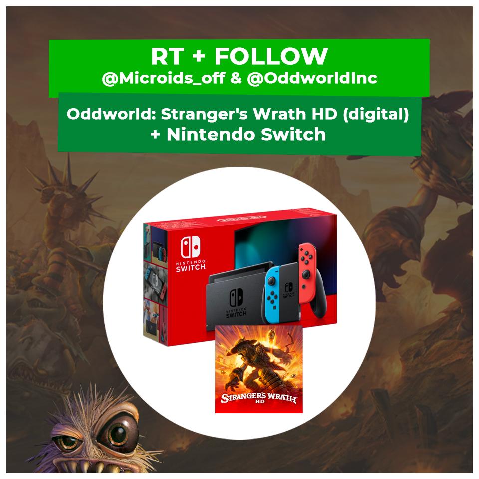 Oddworld #StrangersWrath HD + #NintendoSwitch 🤩 to win - Oddworld Stranger's Wrath HD + une Nintendo Switch à gagner.  To participate - Pour participer: ✅ RT + Follow @Microids_off & @OddworldInc  US:  EU:  Open to US and EU !