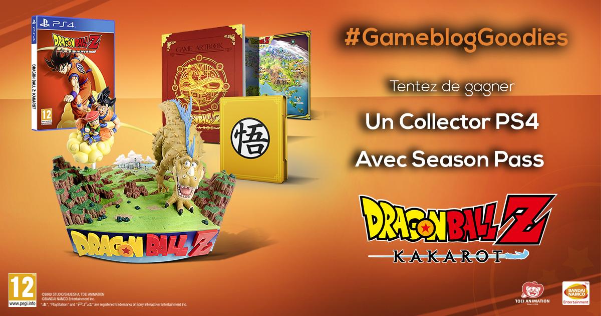 Gros #GameblogGoodies cette semaine ! On vous fait gagner un collector Dragonball Z Kakarot sur PS4 !  Pour participer : 🔁RT ce post ✅Suivre @BandaiNamcoFR et @Gameblog  📆Fin lundi 17 février  Bonne chance à tous 😉