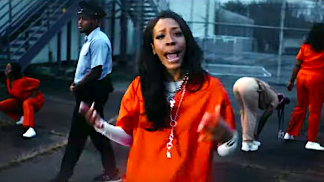 .@rico_nastyy joins @iamjuceefroot in jail for the delirious video for 'Psycho (Remix)'