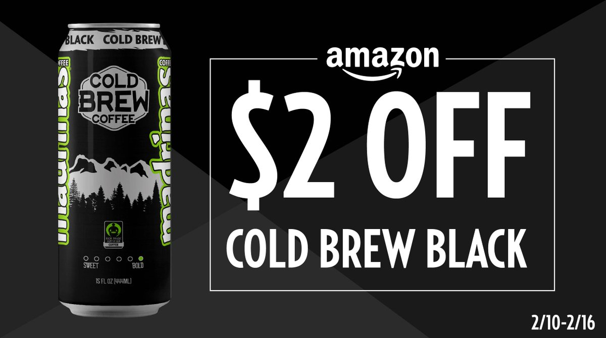 ⚡️FLASH SALE⚡️ Score a 12-pack of Cold Brew Black for $20 on Amazon NOW! (Yes, you read that right. HURRY!)  🙌
