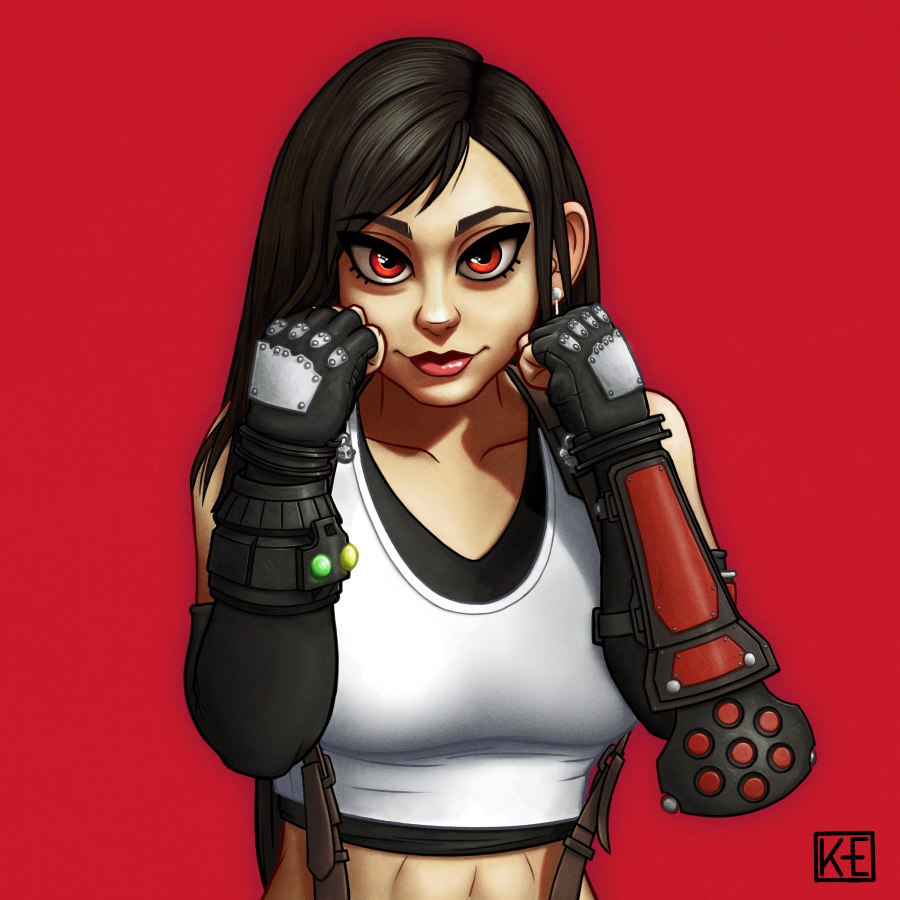Premium Heart #Finalfantasy #FF7R #Tifa #art  Very excited for remake, can't wait for it. I had to draw best girl.