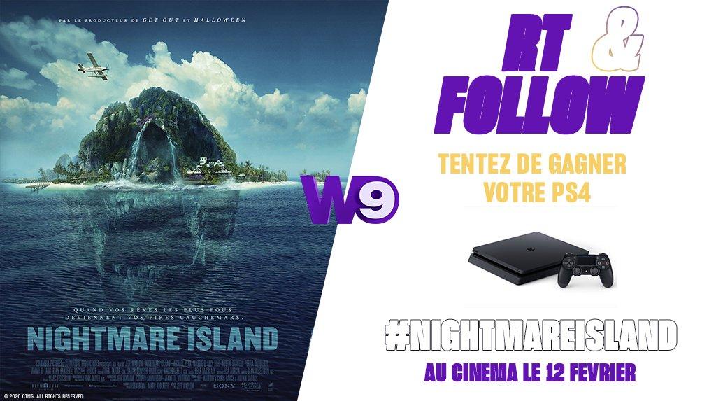 RT + Follow pour tenter de gagner votre PS4 à l'occasion de la sortie du film #NightmareIsland actuellement en salle