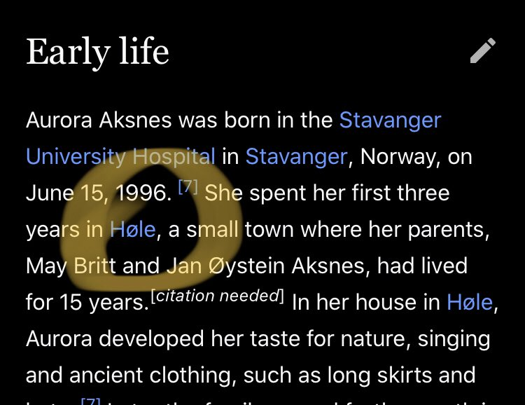 "test Twitter Media - So apparently the singer Aurora is from a Swedish town that I am not sure how it is pronounced, but is spelled ""hole, but with a null set symbol."" What a perfectly on-brand thing for a spooky Scandinavian pop singer to be from ""the N̶U̴L̴L̴I̴T̷Y̴ ̵h̶o̷l̶e̴"" Confirmed ghost. https://t.co/IYkuk27IMM"