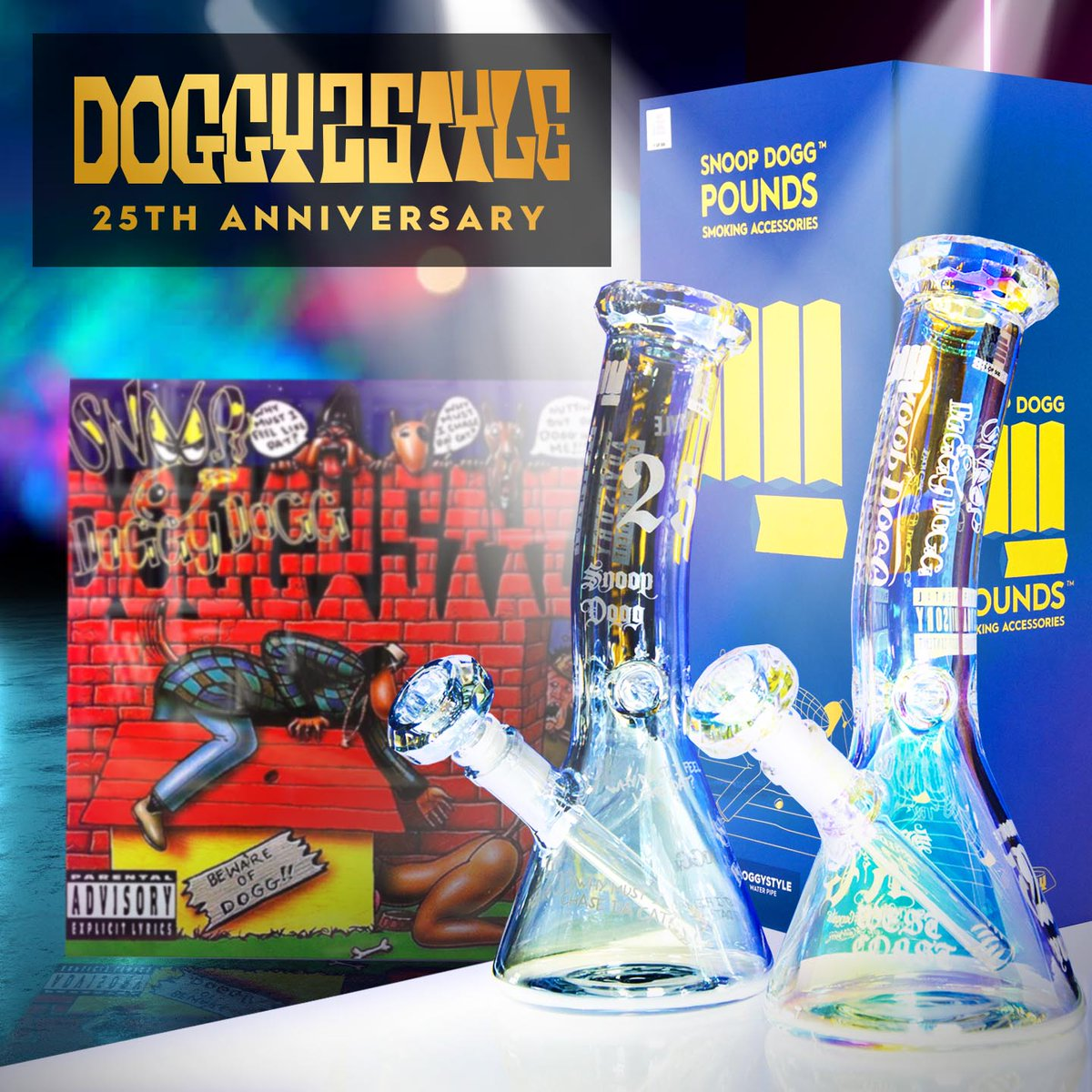 brand new Doggystyle edition of my @smokingPOUNDS products 🔥 celebrate 25 yrs of the album n light one up, it has the extra large bowl for extra large smoke 💨💨 only 500 of each color for sale, so make sure u cop it quick !