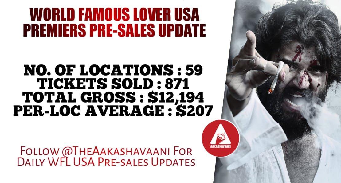 #VijayDeverakonda average booking USA #worldfamouslovertamilteaser #WorldFamousLover