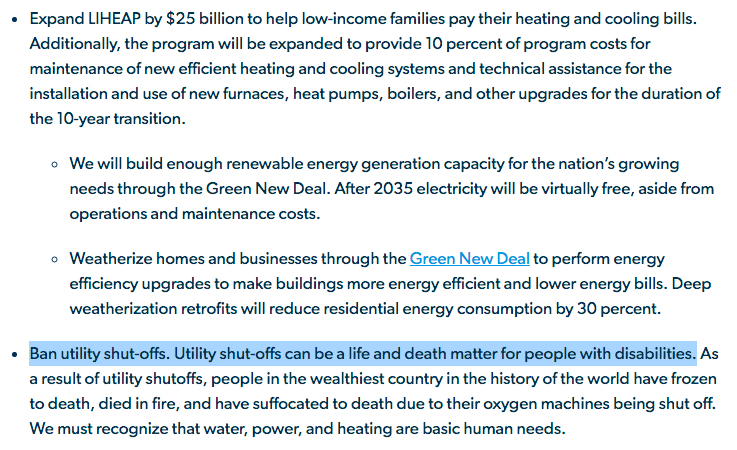 Turns out @BernieSanders has a plan to end utility shut offs, tucked into his disability rights platform. An underrated Bernie strength is his nuanced perspective on the intersections between issues like housing, energy, accessibility.