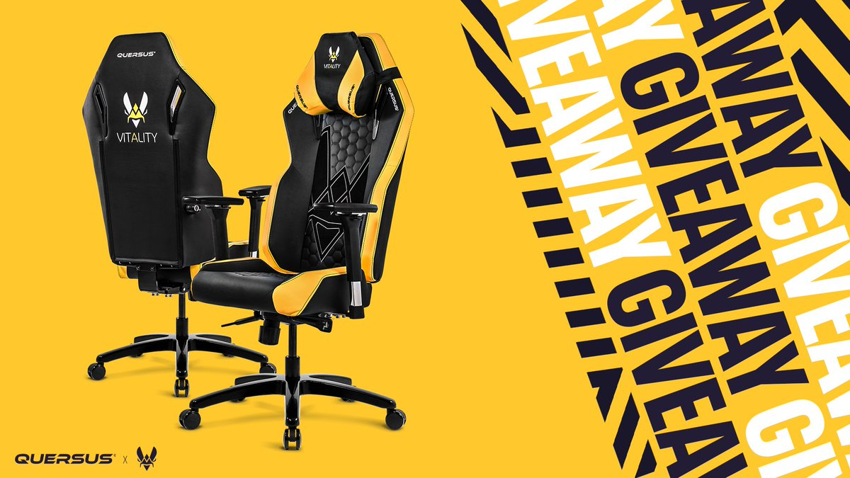 GIVEAWAY 🎁  Thanks to @Quersus, we're giving away one of our famous gaming chair 🤩 To participate:  Follow @TeamVitality & @Quersus ✅ Like + Follow ✅  Winner will be selected on 17/02 GLHF 🍀