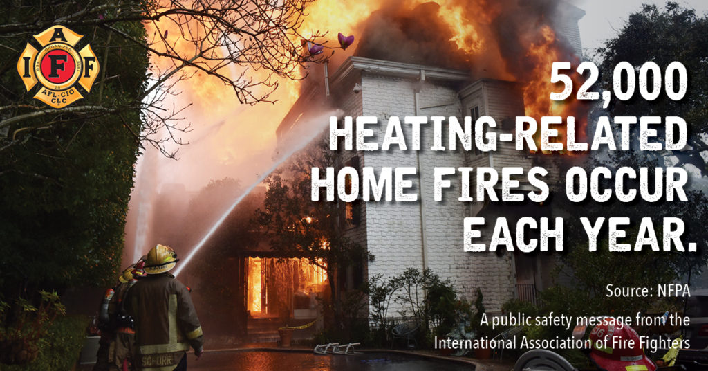 #IAFFSafetyTips: We all want to stay warm, but we respond to more home fires in the winter months. Use space heaters and generators cautiously and according to the guidelines provided with the equipment. https://t.co/KQO4uIjsAQ