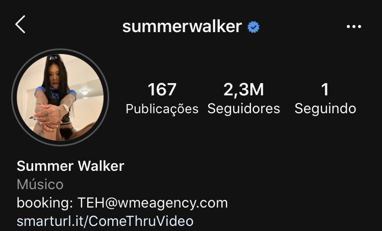 Summer Walker atualizou sua foto de perfil do Instagram.