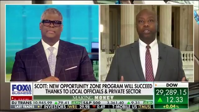Joined @cvpayne on @FoxBusiness this afternoon to talk about how my Opportunity Zones are working across the nation for folks in distressed communities!