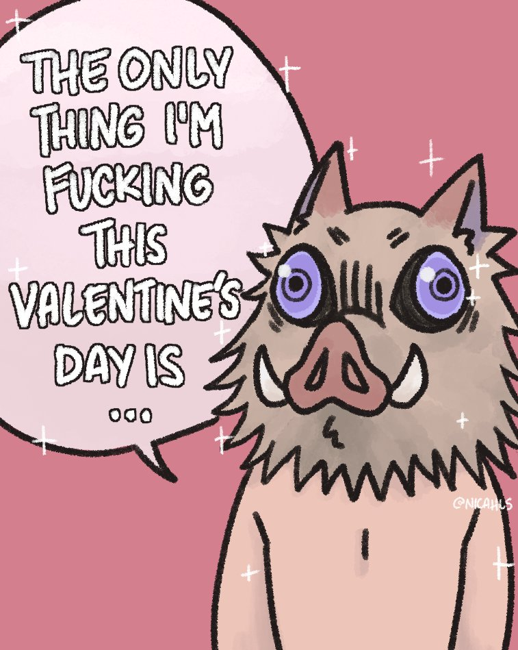 happy early valentine's day from inosuke