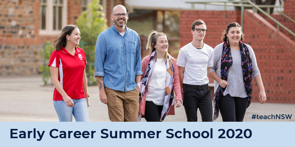 Strengthen your educational practice and network with experienced teacher mentors at the Early Career Summer School 2020. Find out more in this week's edition of JobFeed: https://t.co/RKFM58BP5D #teachNSW #JobFeed #summerschool https://t.co/JxpmJW0FbJ