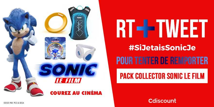 🎁 #Concours   Nous sommes partenaire de #SonicLeFilm et pour sa sortie aujourd'hui, on vous offre ce pack Collector !  🔸 Pour tenter de le remporter :  RT + #SiJetaisSonicJe + compléter la phrase  1 gagnants le 19/02 ➡