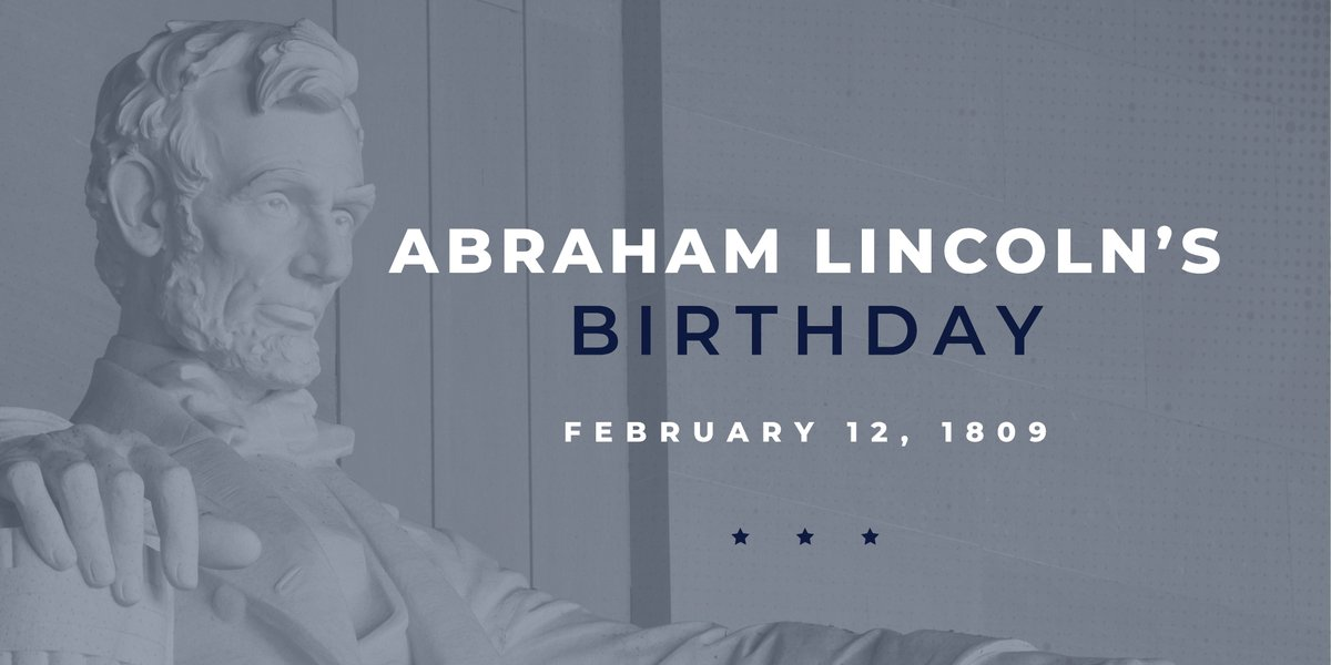#OnThisDay in 1809, Kentucky native Abraham Lincoln was born. Join me in celebrating the life of our 16th president.