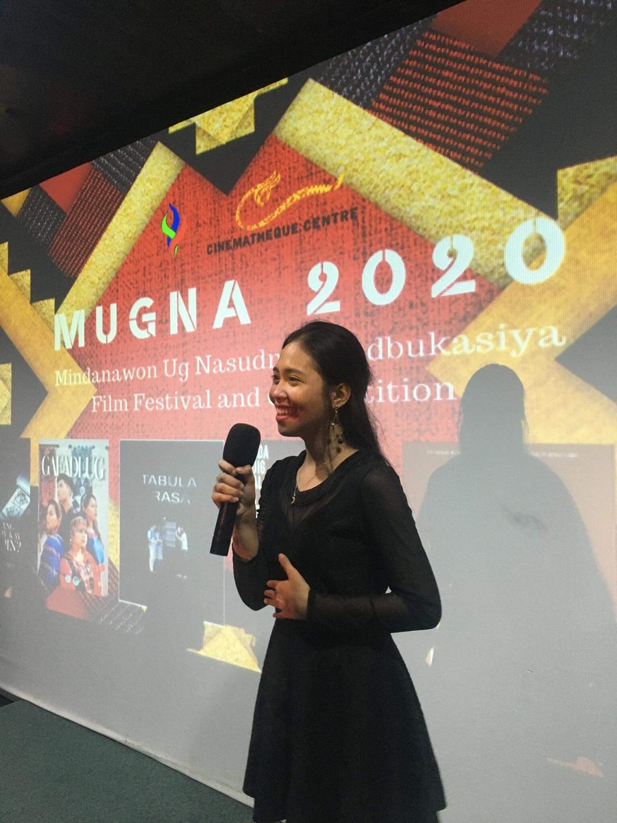 We send our sincere thanks to Alyana Alejandrino Mahilum for hosting the final screening of MUGNA (Mindanawon Ug Nasudnong Adbukasiya) Film Festival and Competition of Pag-inunongay 4, Ateneo Arts Fest.   Kudos for a job well done!   Nurturing Cultures, Cultivating Artistry.