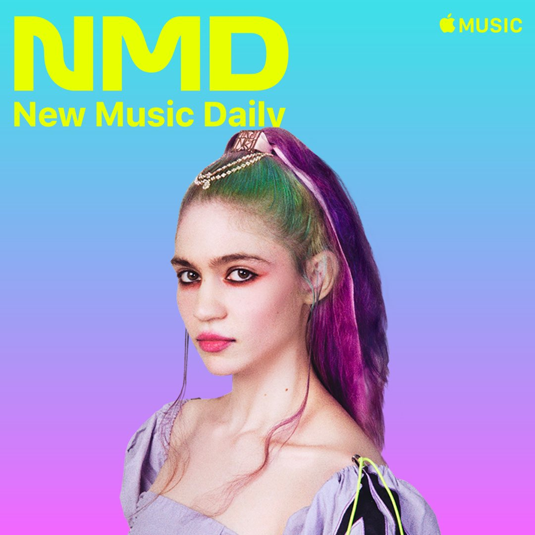"""A deep and brilliant return. We have @Grimezsz as the Cover Star of #NewMusicDaily. Listen to """"Delete Forever"""" Now! ✨✨✨"""