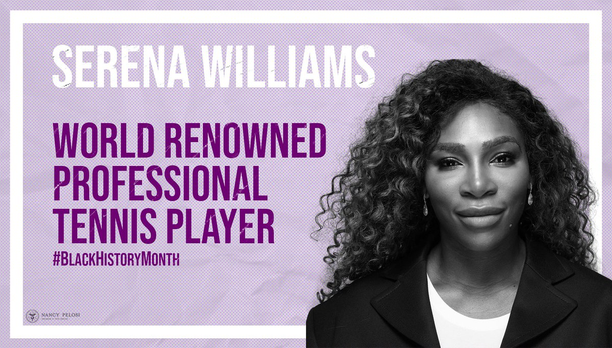 One of the greatest athletes ever, Serena Williams is a champion on & off the court. Bringing attention to issues such as the maternal mortality crisis among black women, Williams reminds us to use our power to call out inequality wherever it arises. #BlackHistoryMonth