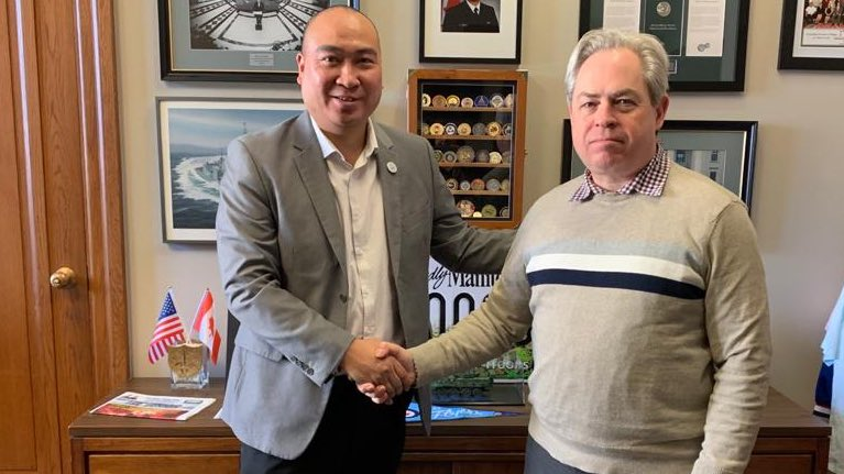test Twitter Media - A pleasure to welcome Lieutenant Colonel (Ret'd) Robert Nash at the office of the Special Envoy for Military Affairs. Thank you for your service and continued involvement as the President for the Canadian Military Intelligence Association - Winnipeg Chapter. 🇨🇦 https://t.co/900fm4exQO