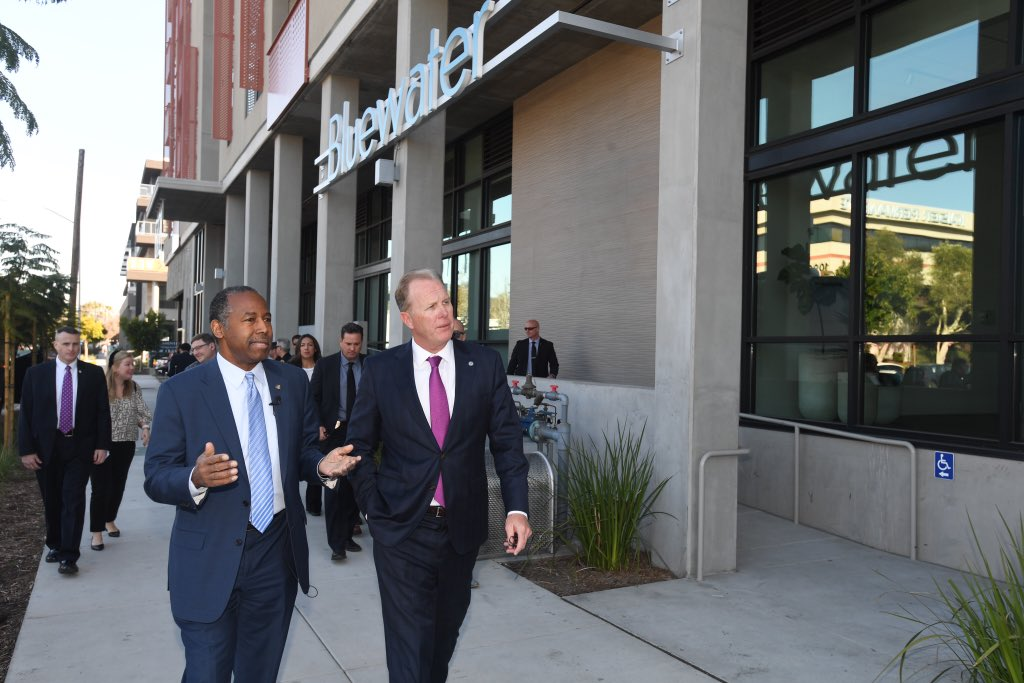 During today's #DrivingAffordableHousing Bus Tour,  we are joining Mayor @Kevin_Faulconer to visit an affordable housing complex and hear about how the city was able to streamline regulatory requirements for its timely construction.