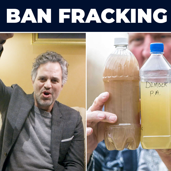 Having access to clean, unfracked water shouldn't be a radical idea. I'm proud to support @sensanders, @repaoc, @senjeffmerkley, and @repdarrensoto in their fight to ban #fracking.