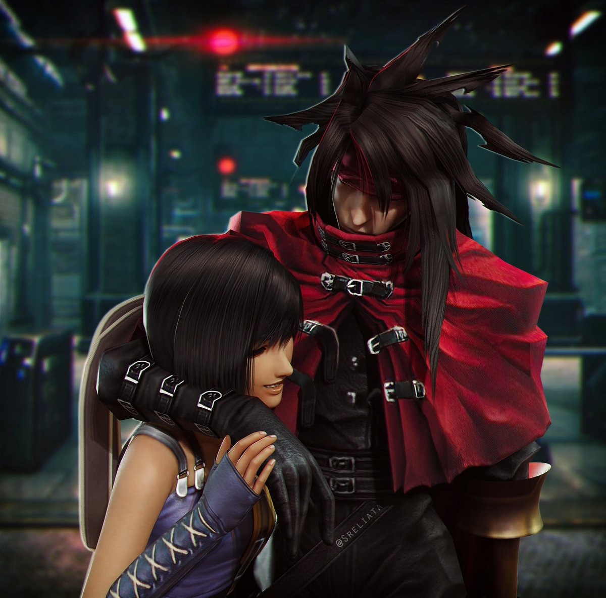 Always wanted to do something with #Vincent and #Yuffie from #FF7 #FFVII #FF7Remake and #DirgeOfCerberus !! I really can't wait for the remake and although we won't see them in part 1, I am looking forward to see them!  I hope you like it too.  Little bit at least. 🤭  #b3d #Love