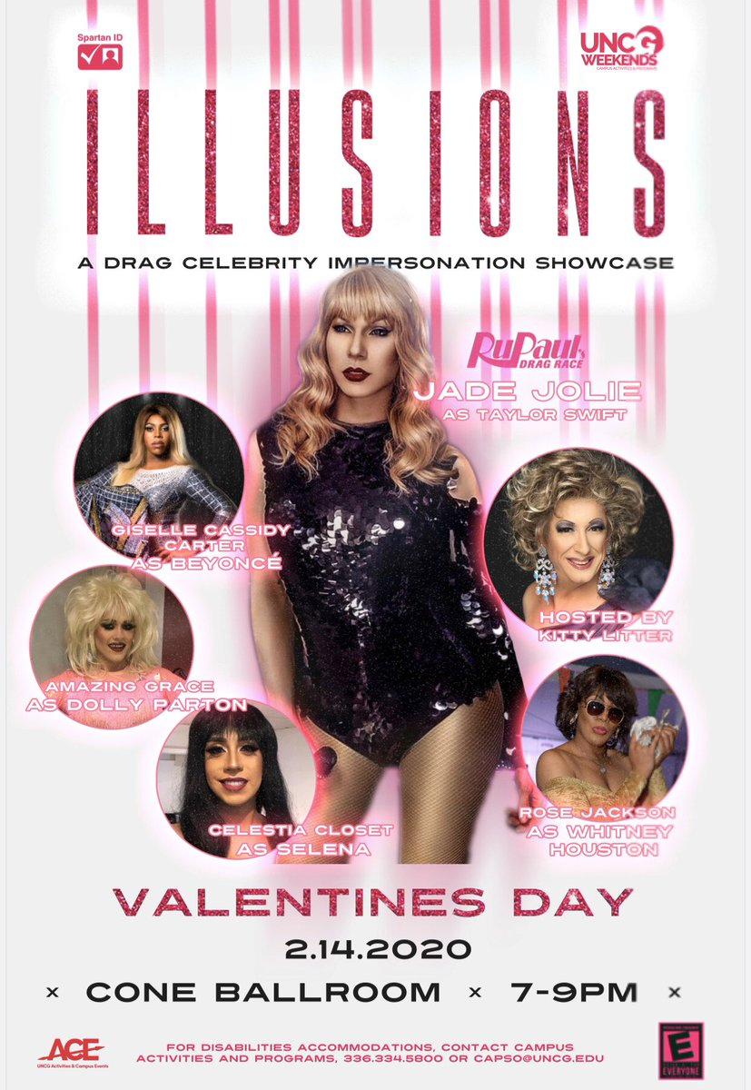 This Friday is gonna be sickening! Catch me for an Illusions show at the Elliott University Center, UNC Greensboro NC! ❤️❤️❤️