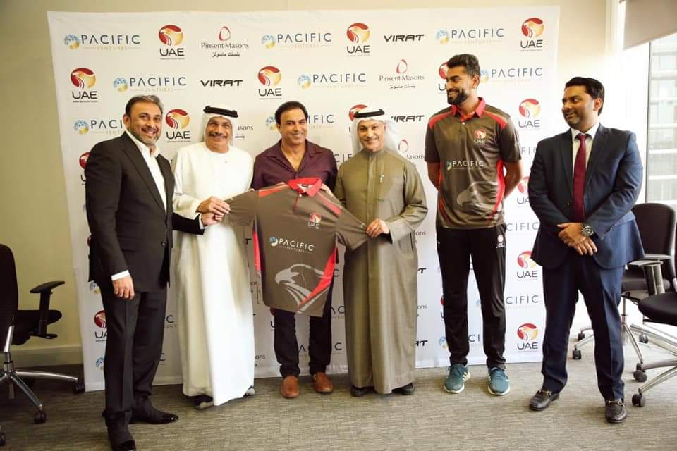 One step ahead. Happy to share Pacific Ventures as proud sponsors of the UAE National Cricket Team! Congratulations @parvezkhan35 @aliakbarkhan24 for your new journey.  @PacificDubai @icc @EmiratesCricket #pacificventures #uaecricket #cricketforchange