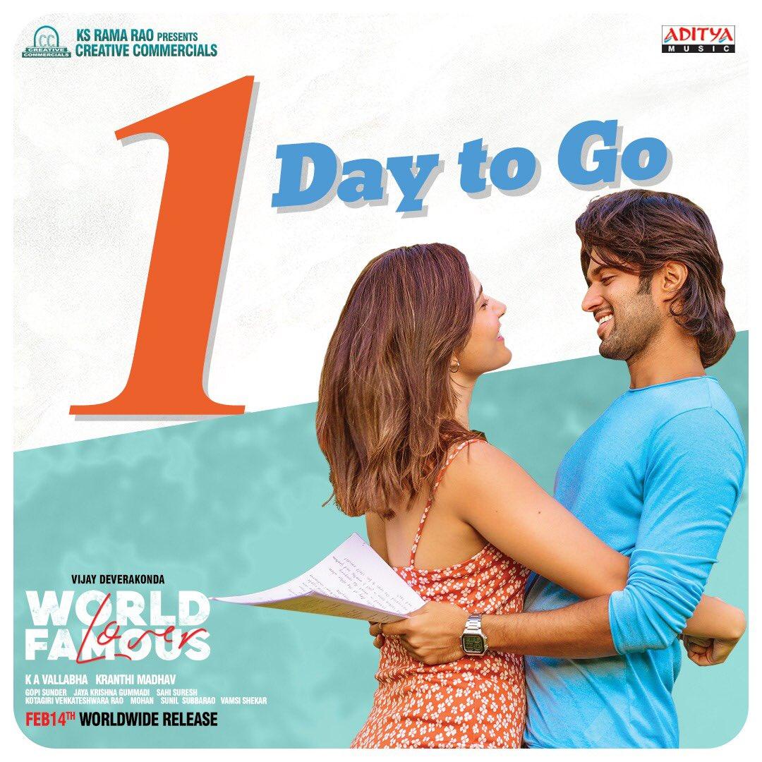 Meet Gawtham - Yamini 😍 at your nearest theaters from tomorrow !!  #WorldFamousLover #WFLonFeb14  #WFLFromTomorrow   @TheDeverakonda @RaashiKhanna @CatherineTresa1  @aishu_dil @ksramarao45 @sahisuresh @adityamusic @GopiSundarOffl @CCMediaEnt