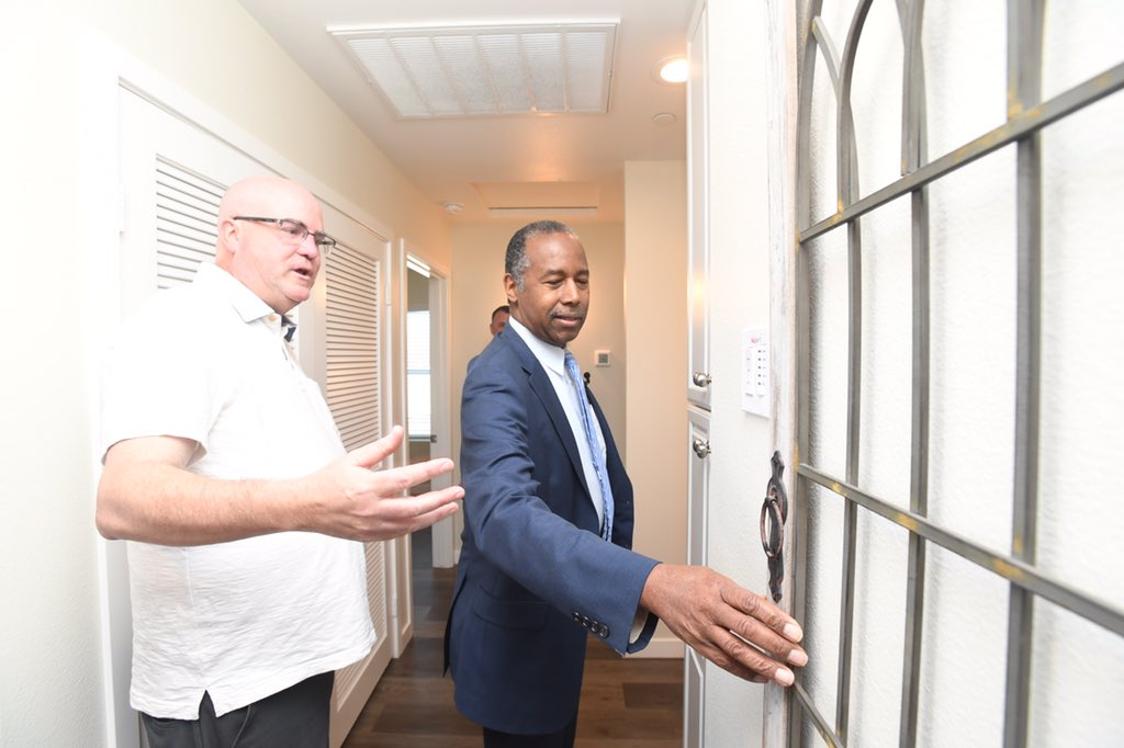 The Grove Community Church in Riverside, CA worked with the city of Riverside to develop some of their unused land into housing for their neighbors in need. I was delighted to see these homes firsthand as part of our #DrivingAffordableHousing bus tour.