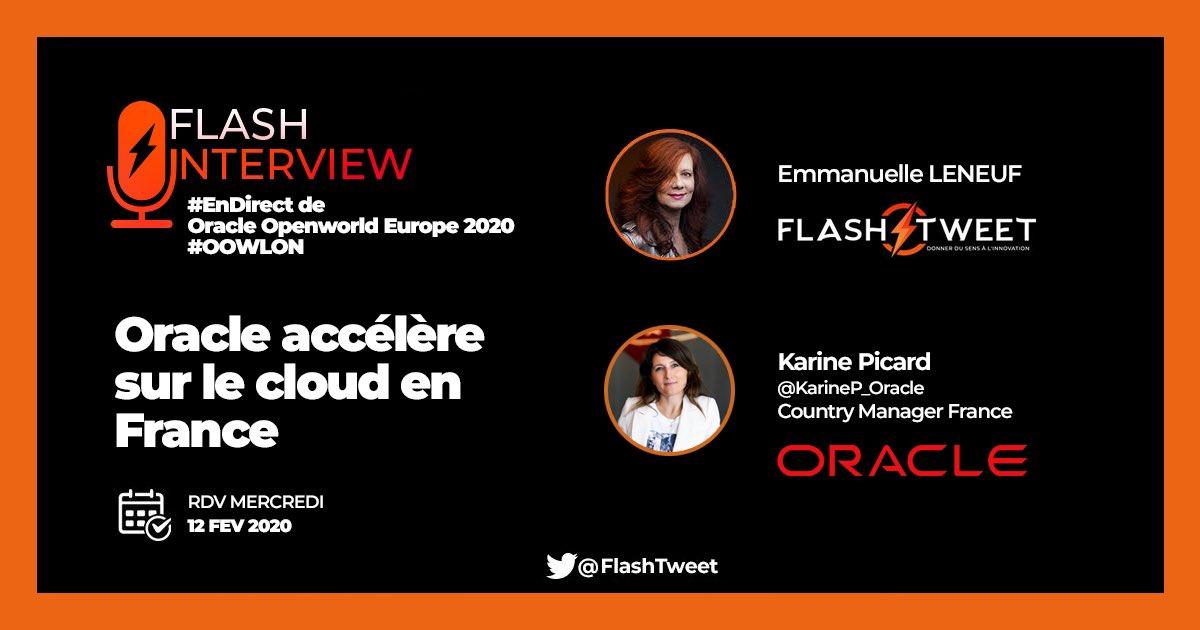 [#BonusTweet with @Oracle_France]   #EnDirect de #OOWLON    🎙#FlashInterview de @KarineP_Oracle :  @Oracle accélère sur le #Cloud en France 🇫🇷 by @EmmanuelleL9   #multicloud #ERP #TransfoNum #IA #Innovation #CloudSouverain #Tech