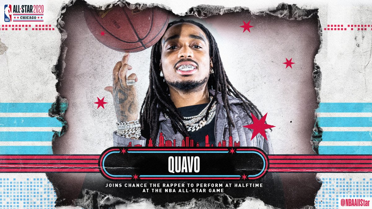 GRAMMY-nominated @Migos rapper @QuavoStuntin to join @chancetherapper for a star-studded halftime performance at the 69th #NBAAllStar Game airing live at 8:00pm/et @NBAonTNT.