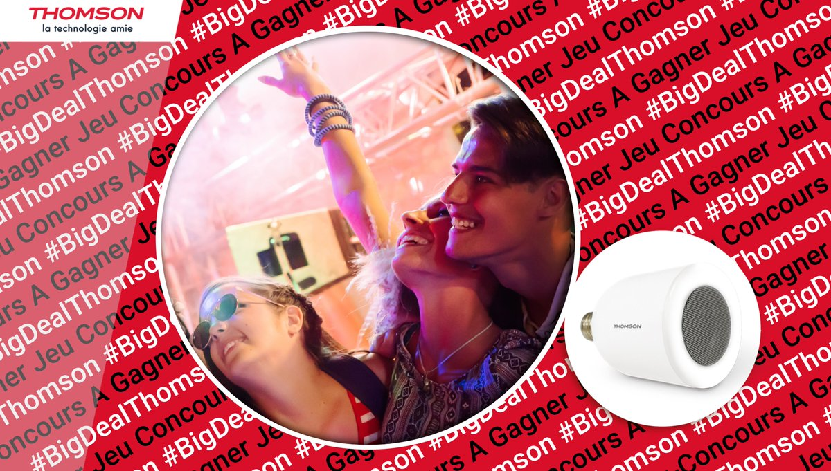 #BigDealThomson ! Une ampoule assurant la fonction d'enceinte Bluetooth ? Voilà une super idée ! Et si nous vous en faisions gagner une aujourd'hui ? 💡🎵  ➡ RT + FOLLOW  @Thomson_FRA ➡ Dans quelle pièce l'installeriez-vous ?  #ThomsonDomotique #JeuConcours 🍀🎁