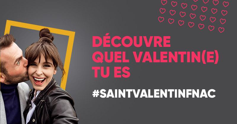 💕 Le 14 février approche à grands pas ! Découvre quel Valentin(e) tu es en commentant ce tweet avec le #SaintValentinFnac 😂