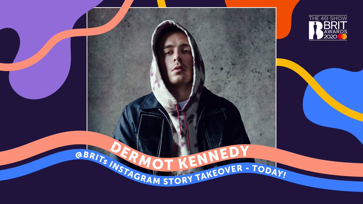Don't forget! #BRITs nominee @DermotKennedy will be taking over our Instagram later today, taking you behind the scenes of tour life 🎸🎶