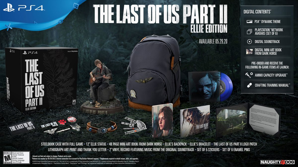 Reminder: The Last of Us Part II Ellie Edition will be back in stock at Amazon, Best Buy, GameStop,  Target, and EB Games in the U.S. and Canada starting in 15 minutes! Quantities are limited, so don't miss out.