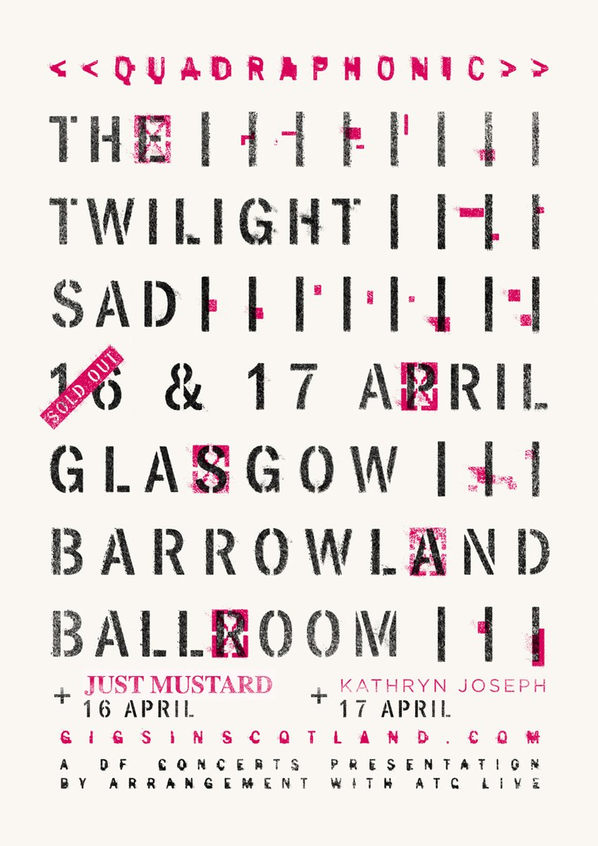 SUPPORT ANNOUNCED » @justmustard will support @thetwilightsad at @TheBarrowlands on 16th April. @kathrynjoseph_ will support the next night on 17th April  Limited tickets remaining for night 2. Get yours NOW!  TICKETS ⇾