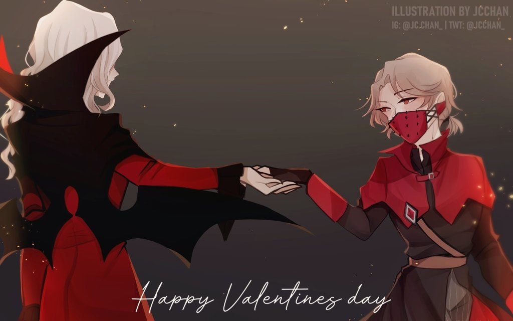 Happy Valentine's day!💕 (Early post in Twitter)  I can only offer this quick art of my OTP,,  #IdentityV #identityVイラスト #第五人格 #アイデンティティV #第五人格イラスト #carlseph #joscarl #写納 #写真家 #納棺師 #happyvalentinesday #ValentinesDay2020 #valentine