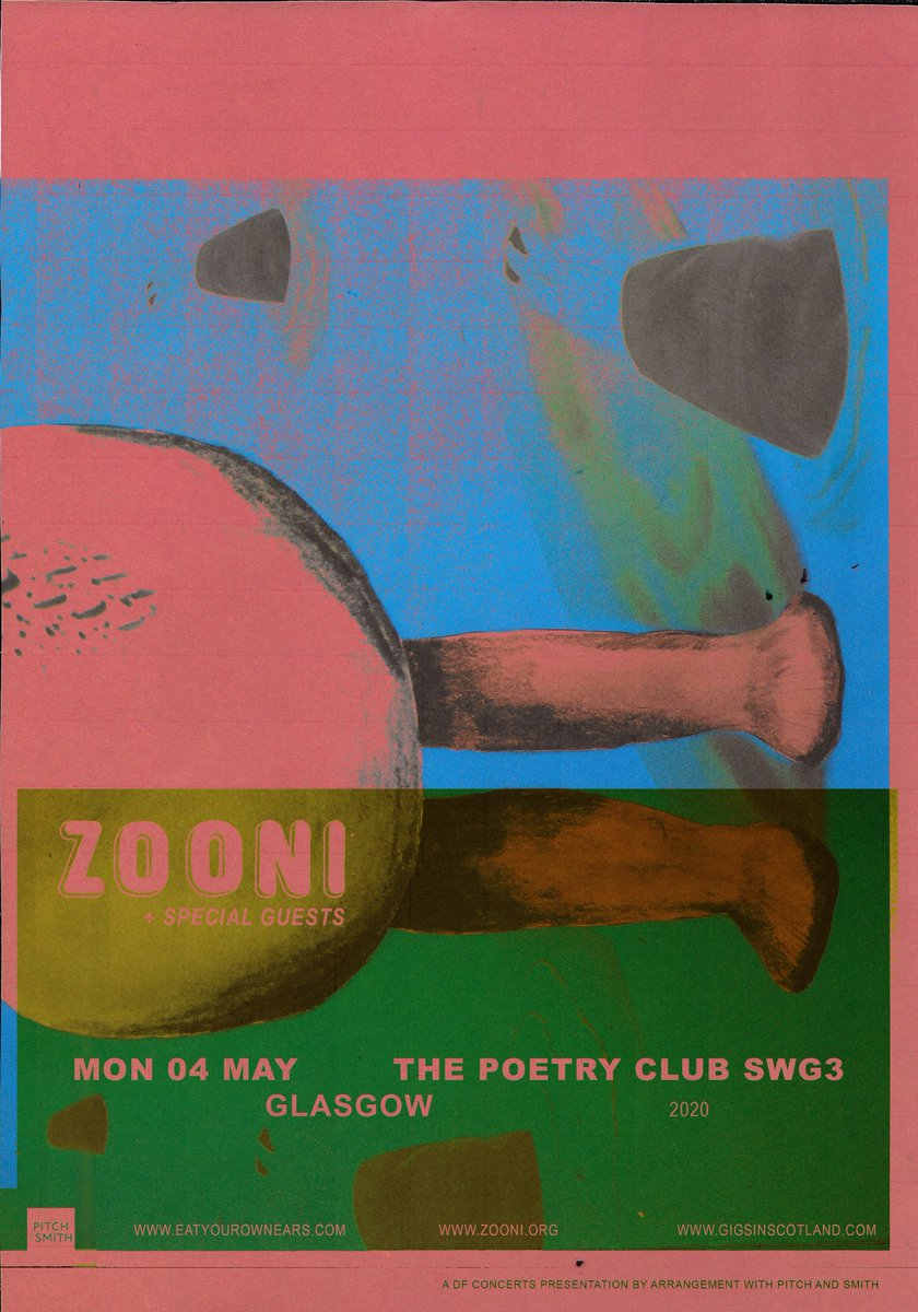 ANNOUNCED & ON SALE » Brighton art pop band @zooniband are playing at @PoetryGlasgow on 4th May! Tickets on sale NOW!  TICKETS ⇾