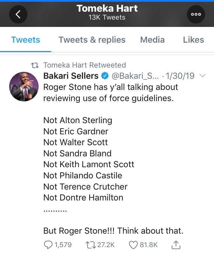 Under oath, the jury foreman in Roger Stone case testified that she had no recollection of who Roger Stone was.   Here is a Tweet from her twitter account about Roger Stone.
