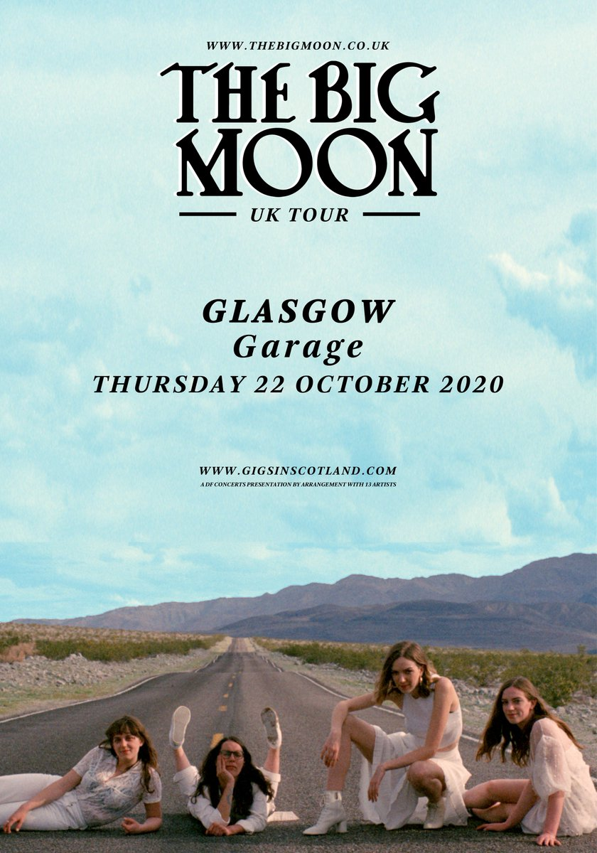ON SALE » Tickets for @thebigmoon at @Garageglasgow on 22nd October are on sale NOW!  TICKETS ⇾