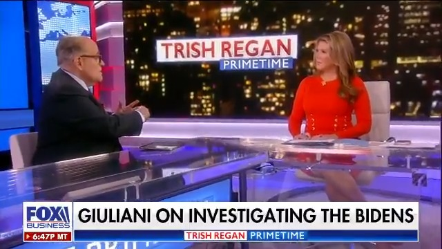 .@RudyGiuliani says there is more to this #Ukraine corruption scandal than the #Bidens - #Giuliani says he has the proof, and he's ready to EXPOSE the corruption - and that's why people are after him, watch:   #TrishRegan