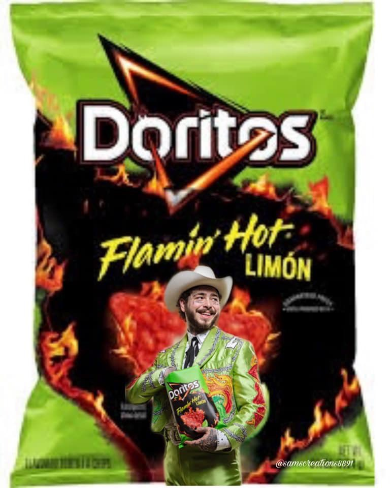 Hey @rriproarin don't you think this is how the @PostMalone #postlimon @Doritos bag should look!!