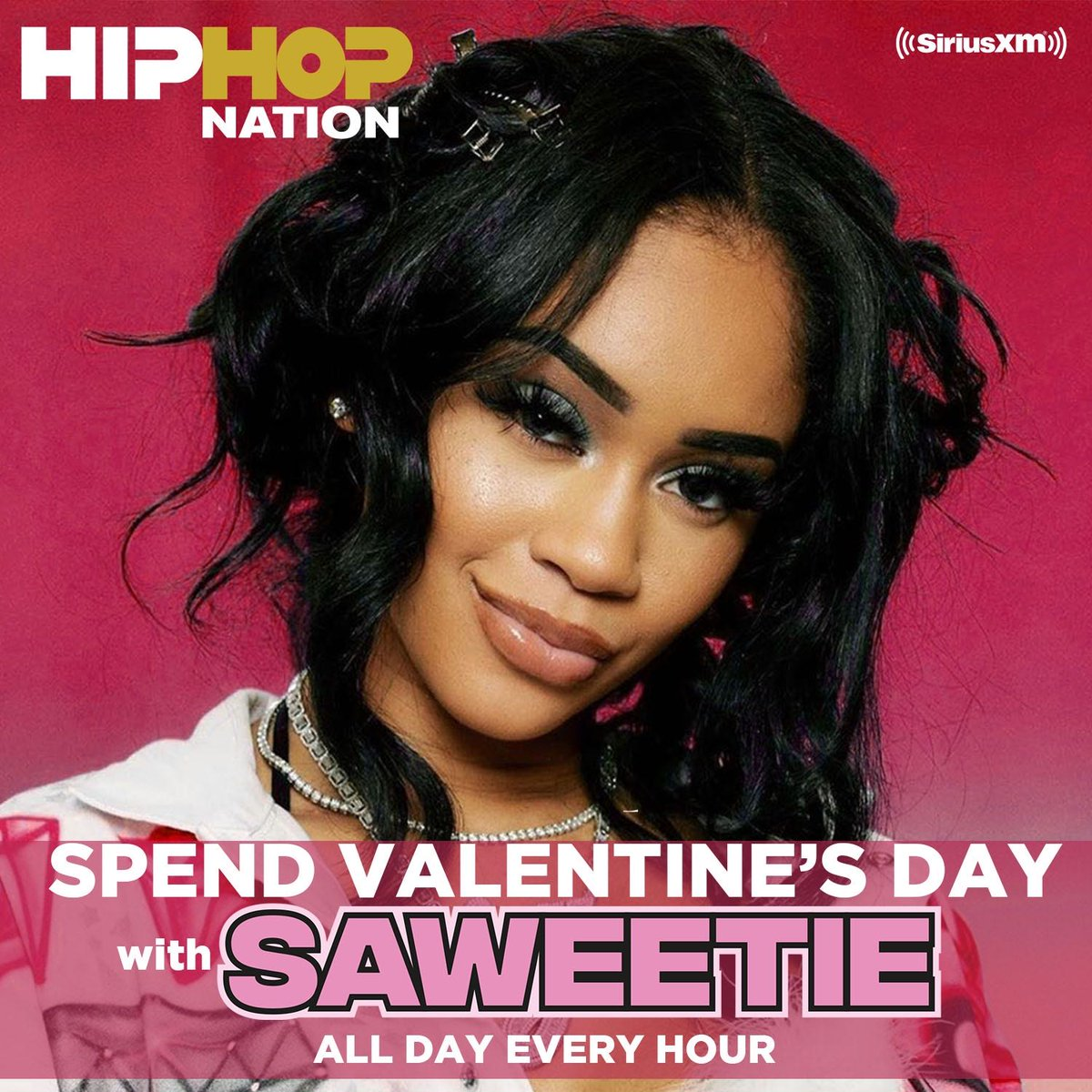 .@Saweetie shoots cupid's arrow with hip hop love songs all day long with cuts from @Drake, @kendricklamar, @chancetherapper & more: