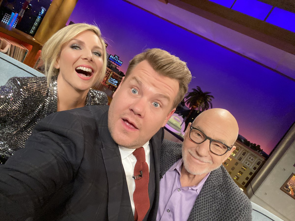 "An absolutely delightful #LateLateShow is coming your way tonight with @MsJuneDiane and @SirPatStew + James heads into the audience for another wild round of ""Know For Your Row!"""