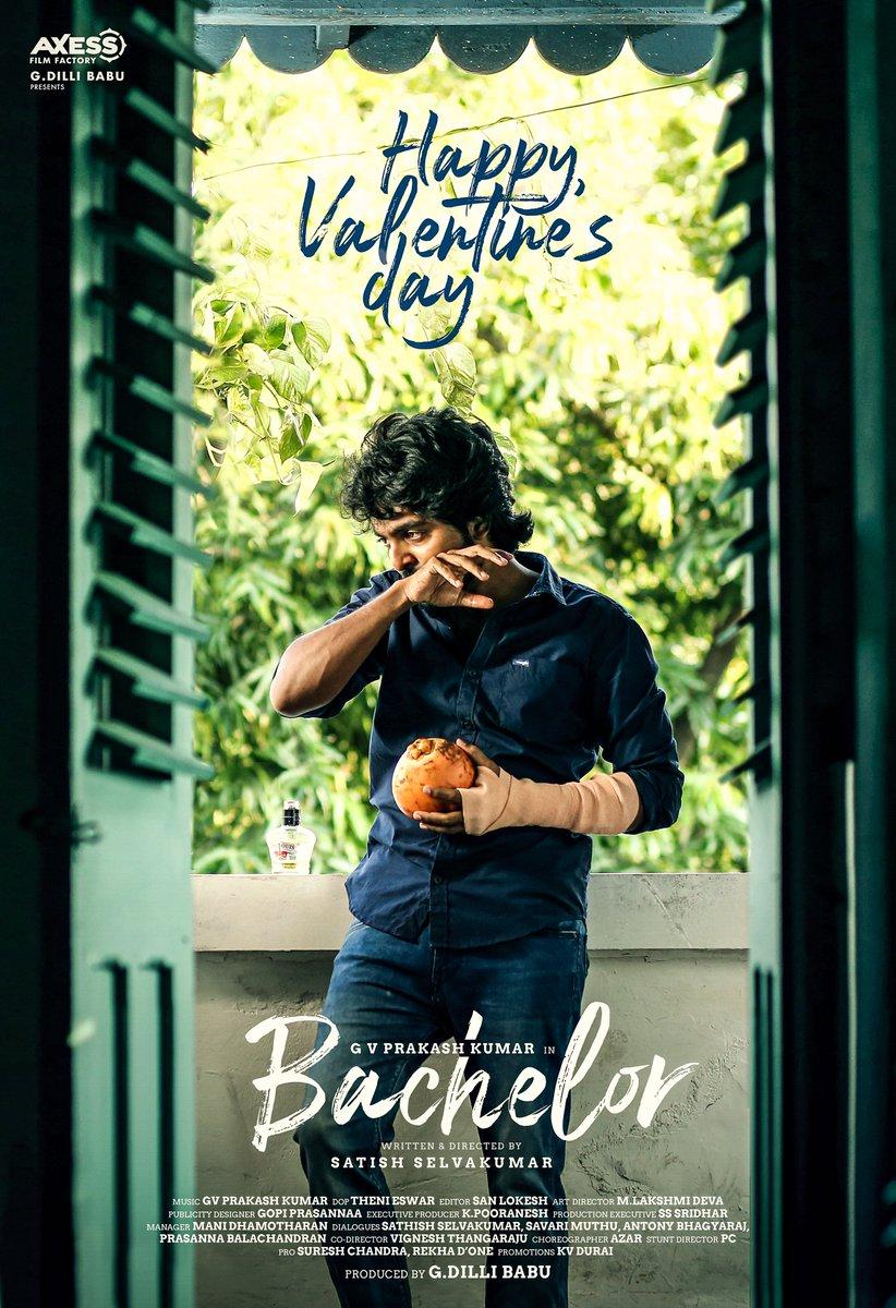 #Bachelor 's Valentine's day Vaazhthukal !   @gvprakash @dir_Sathish @Dili_AFF @divyabarti2801 @gopiprasannaa @k_pooranesh @sanlokesh @Donechannel1 @UptownIdeas