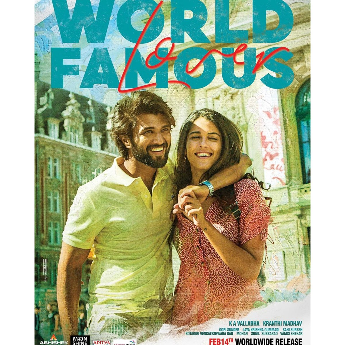 This #Valentineday, fall in ❤️ with #WorldFamouslover starring @TheDeverakonda, @aishu_dil @RaashiKhanna, @CatherineTresa1 & @izabelleleite25. The film directed by #kranthimadhav is out today and will take you to 🇫🇷 in Arcachon, Biarritz, Lille and ofc the City of 💖 Paris! #wfl