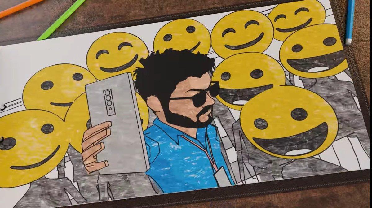 #Thalapathy ku lam vayase aagathu pola😍 The charm in his looks& voice--- Huff! it sweeps me off everytime😍😍 Lovely msgs thru th trendy smart #Kuttystory lyric vid👏👏 #Master spl #OruKuttiKadhai  #OruKuttiKathaiLyricVideo