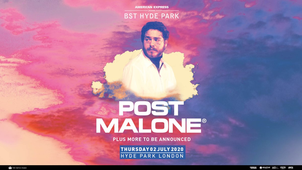 Tickets are now on general sale for @PostMalone's headline show at @BSTHydePark this July! 🌳  Book your tickets now ➡️